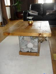 furniture fish tanks. Scrap Wood,fish Tank, Pebble Coffee Table, Handmade Furniture Fish Tanks 1