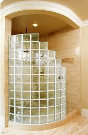 vista block solid glass block from pittsburgh corning are used in this shower the 8 x 8 vista block are in the statement series from pittsburgh corning