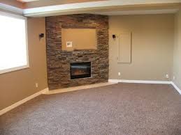 sumptuous corner gas fireplace vogue omaha traditional basement inspiration with bar basement custom electric fireplace masonry tile wet