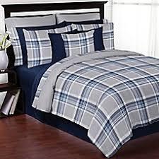 grey plaid comforter. Delighful Comforter Sweet Jojo Designs Plaid Comforter Set In NavyGrey Intended Grey Y