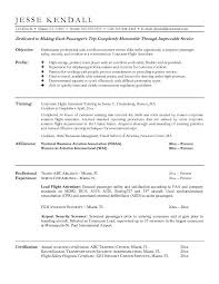 Flight Attendant Resume Objectives Jesse Kendall ...