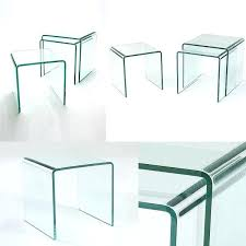 side tables and coffee table set nest of 3 glass side tables in stock hygena cubic