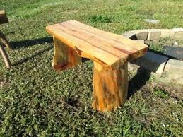 3 foot benches 3 foot pine log bench with legs carved into bench seat 3 foot 3 foot benches