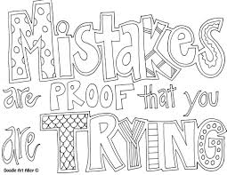 Learning Quote Coloring Pages From Doodle