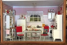 Dollhouse Kitchen Furniture 1950s Kitchen Nanas Dollhouses And Miniatures
