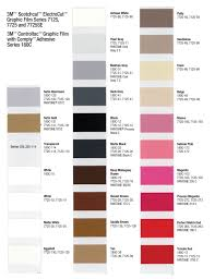 3m Scotchcal Vinyl Color Chart 3m Hp Color Chart Sign Anatomy