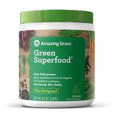 Green Mill Nutrition Chart Amazing Grass Organic Green Superfoods