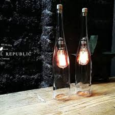 bottle lamp lighting industrial style clear glass extra larg