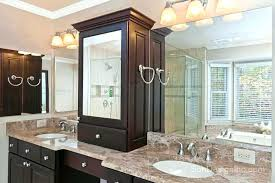 bathroom vanity with center tower countertop home improvement scheme 2018