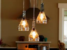 Hanging Light Fixtures For Kitchen Upcycle Wine Bottle Into Pendant Light Fixtures How Tos Diy