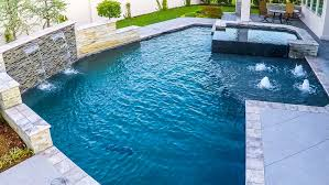 rain wall courtyard pool