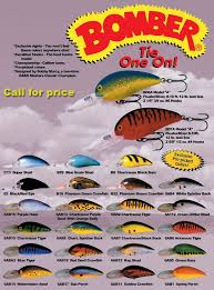 Vintage Bomber Lure Color Chart Bomber Model A 2005 Pro Picked Color Chart Fish Walleye