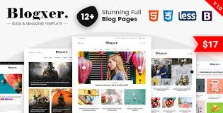 Blogxer Blog Magazine Bootstrap 4 Template Templates