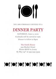 dinner party invites templates dinner invitation template template business