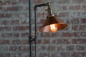 rustic industrial lighting. adjustable floor lamp copper shade industrial rustic barn lighting