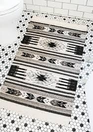 black white grey aztec print rug manoz zapeteca