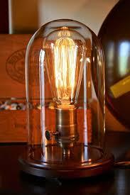 edison table lamp vintage home lighting. $75 Vintage Bell Jar Table Lamp, Rustic Industrial Edison Bulb,  Steampunk, Antique Lamp Vintage Home Lighting P