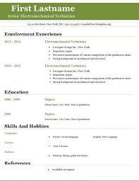 Gallery Of Open Office Resume