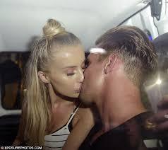 Statement blond teen kissing