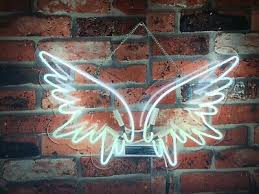 white angel wings neon sign light lamp