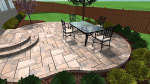 stamped concrete patio plans