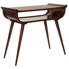 midcentury modern walnut console table at stdibs