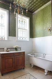 bathroom crown molding. Stained Beadboard Ceiling Bathroom Victorian With Crown Molding Lever Handles