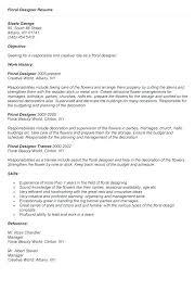 Cake Decorator Resume Cool Floral Designer Resume Good Template Resume Format