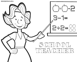 Day Coloring Page For Teacher And Valentines Gifts For Throughout ...