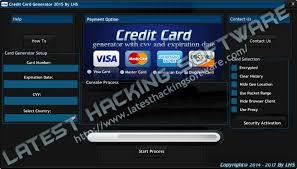 visa credit card generator generate valid credit card
