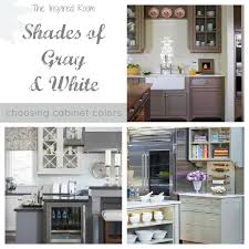 Shades of Neutral} Gray \u0026 White Kitchens - Choosing Cabinet Colors ...