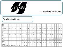 Flow Snowboard Binding Size Chart Christy Sports
