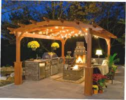 How To Hang Lights In Gazebo Landscape Lighting Ideas Outdoor Backyard Lounge Area With