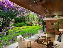 Wall Mural For Living Room Fresh Flower Horseman Deer Grass Living Room 3d Tv Backdrop Wall