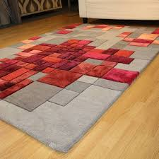 grey and red rug uk designs