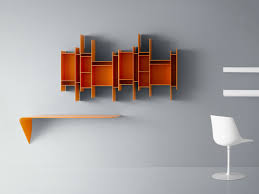 Wall Mount Bookcase Open Wall Mounted Mdf Bookcase Randomito Random Collection By Mdf