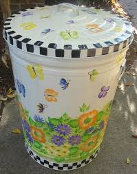 Exterior Garbage Cans Set Painting New Inspiration