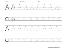 letter A tracing
