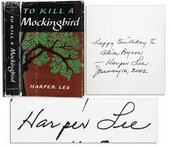 """Item Detail - Harper Lee Signed First Edition of Her Pulitzer Prize Winning  Work """"To Kill A Mockingbird"""""""