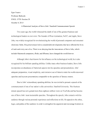 rhetorical analysis essay example of a speech how to write an  rhetorical analysis of steve jobs stanford commencement speech
