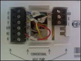new thermostat wiring heat pump not kicking on attached images