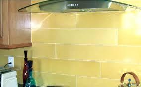 yellow backsplash tile yellow glass tile subway dining kitchen