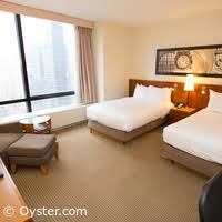 2 double beds. Wonderful Beds The Deluxe Double Room With City View At The Millenium Hilton  On 2 Beds