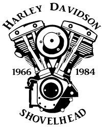 Harley davidson motors inspirational wandtattoo aufkleber motorrad biker chopper harley motiv