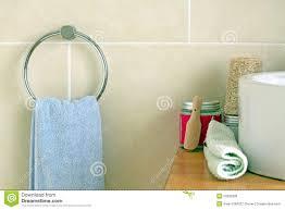 Bathroom Towel Bathroom Towel And Salt Stock Photo Image 20289230