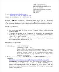 Tech Resume Mesmerizing Resume For B Tech Internship