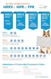 Difference Between Merv Mpr Fpr Ratings Infographic Air