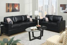 Wonderful Black Leather Couches Sofa And Loveseat Set C Inside Inspiration