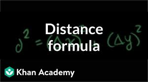 Distance Between States Chart Distance Formula Analytic Geometry Video Khan Academy