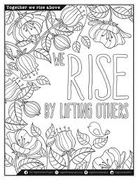 Small Picture Coloring Pages with Affirmation for Meditation Practice Self